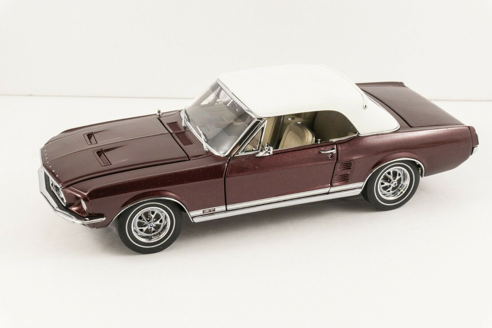 GMP 1 24 1967 Ford Mustang GT  23 of 500 LE Antique Burgundy Poly MINT IN BOX