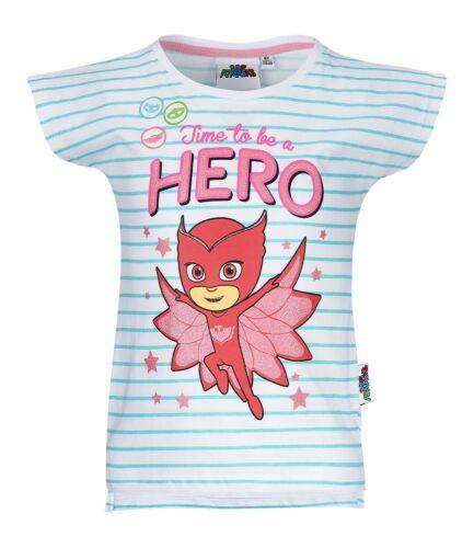 Boys Girls Kids Children Pj Masks Short Sleeve Tee Tshirt Top Age 2-8 years