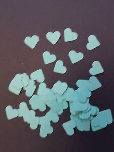 table confetti scrapbooking 100 small Yellow pearlescent hearts wedding crafts
