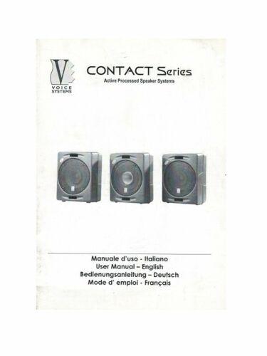 Voice System Contact Series Manuale Di Istruzioni In Italiano E Inglese