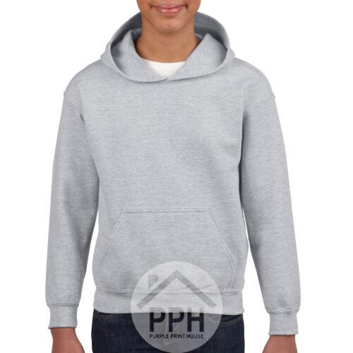 Bambini Gildan Felpa Con Cappuccio Ragazzi Ragazze Felpa Sweater School Uniform Cappotto Giacca vendita
