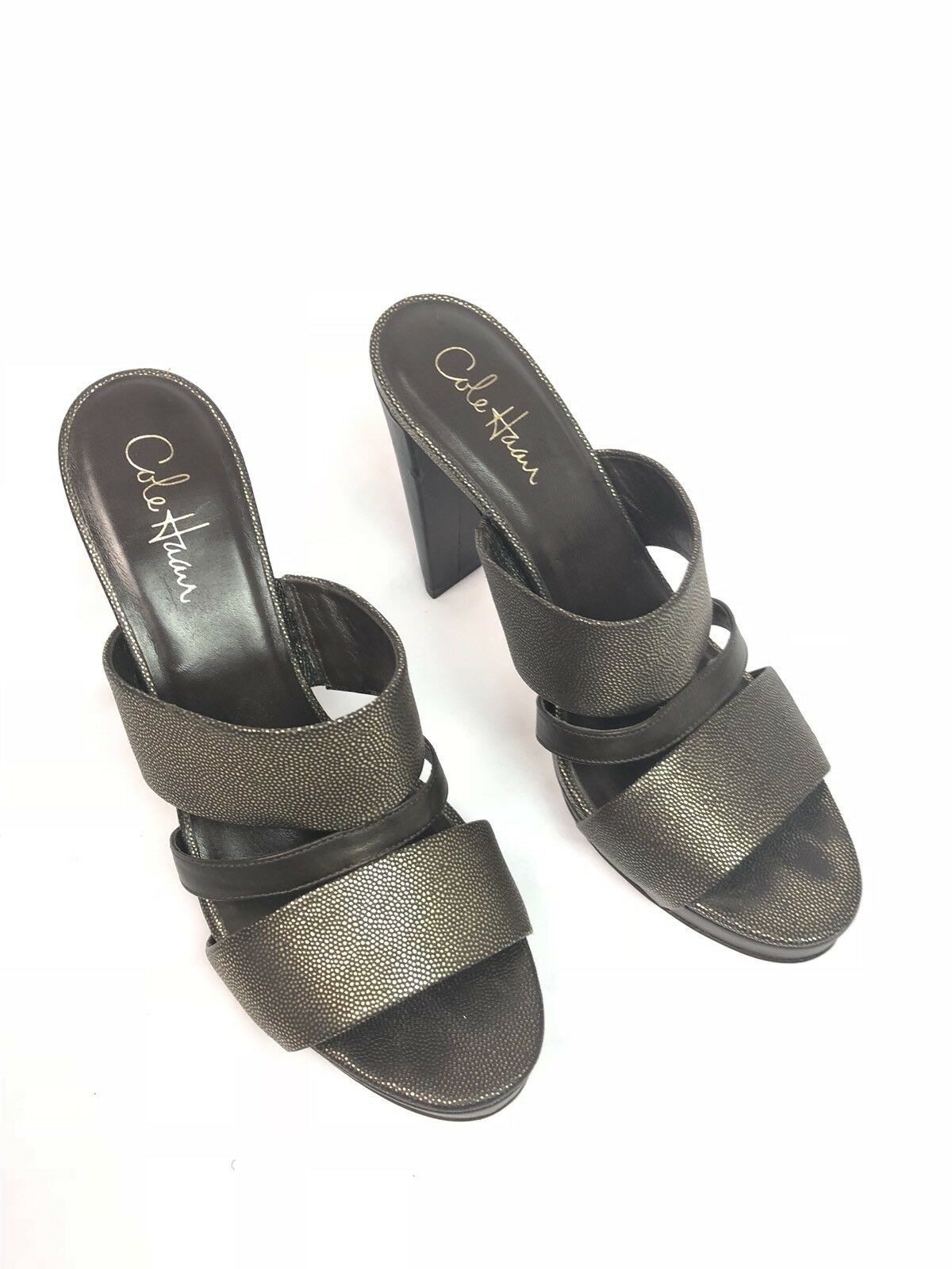 Cole Haan NikeAir Heels Leather Größe damen 9 Open Toe braun Strappy Pumps
