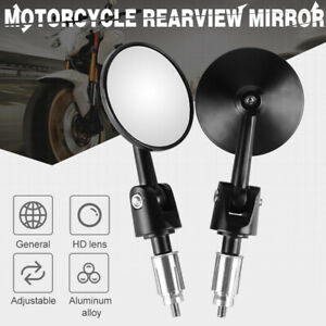 """Pair 22mm 7/8"""" Motorcycle CNC Rear View Handle Bar End Mirrors For Honda XR250R"""