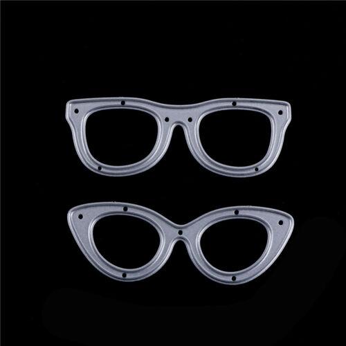 2pcs Glasses Metal Cutting Dies Stencil For Scrapbooking DIY Album Cards PB