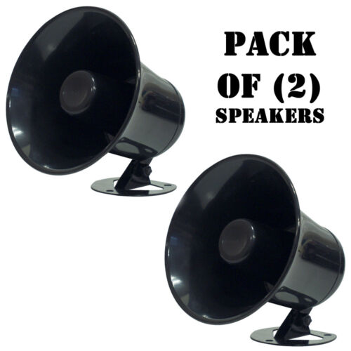 Pack of New Pyramid SP5 All Weather 5/'/' PA Mono Extension Horn Speakers 2
