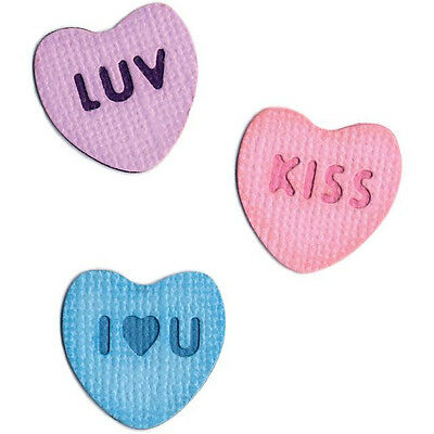 """Quickutz/Lifestyle Crafts KS-0307   """"CANDY HEARTS"""" 1 2X2"""" Die NO PACKAGING  NEW"""