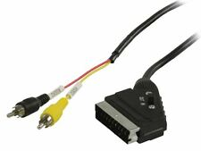 Glaxio Switchable SCART to RCA cable (SCART male to 2x RCA male) 2m black