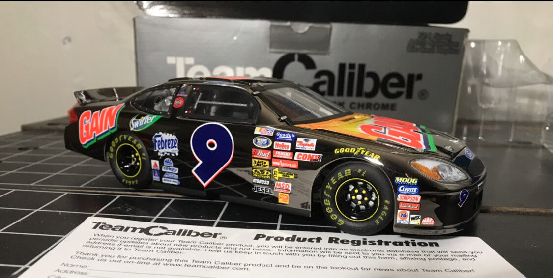 Jeff Burton 1 24 dicast ford brushed crome car