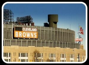 Cleveland Browns MAGNET - Municipal Stadium Vintage Dawg Pound NFL Chief Wahoo