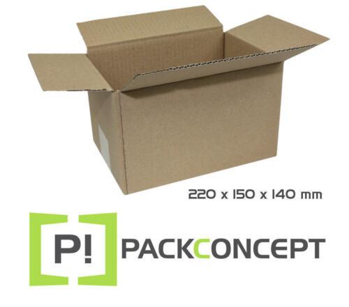 Faltkarton 1-wellig 220 x 150 x140 mm; Karton; Faltkarton; Versandkarton §4