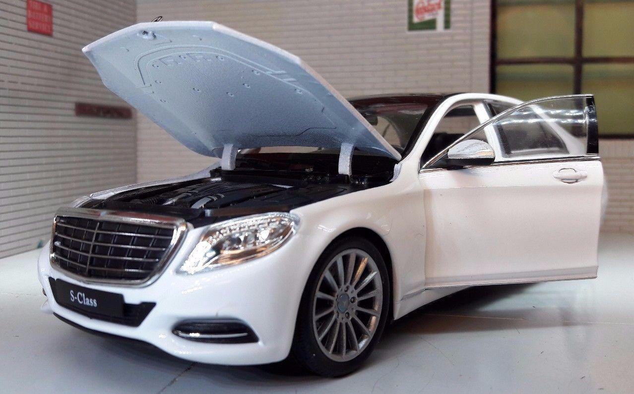G LGB 1 24 Scale White Mercedes S Class 24051 24051 24051 2015 W222 Welly Diecast Model Car 33f9c8
