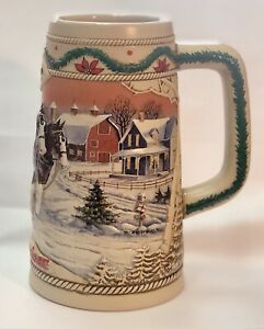 AUTHENTIC Budweiser American Homestead 1996 Holiday Stein FREE SHIPPING
