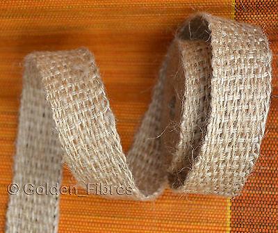 40mm Natural Woven Rustic Hessian Jute Burlap Hemp Ribbon Strap Floristry