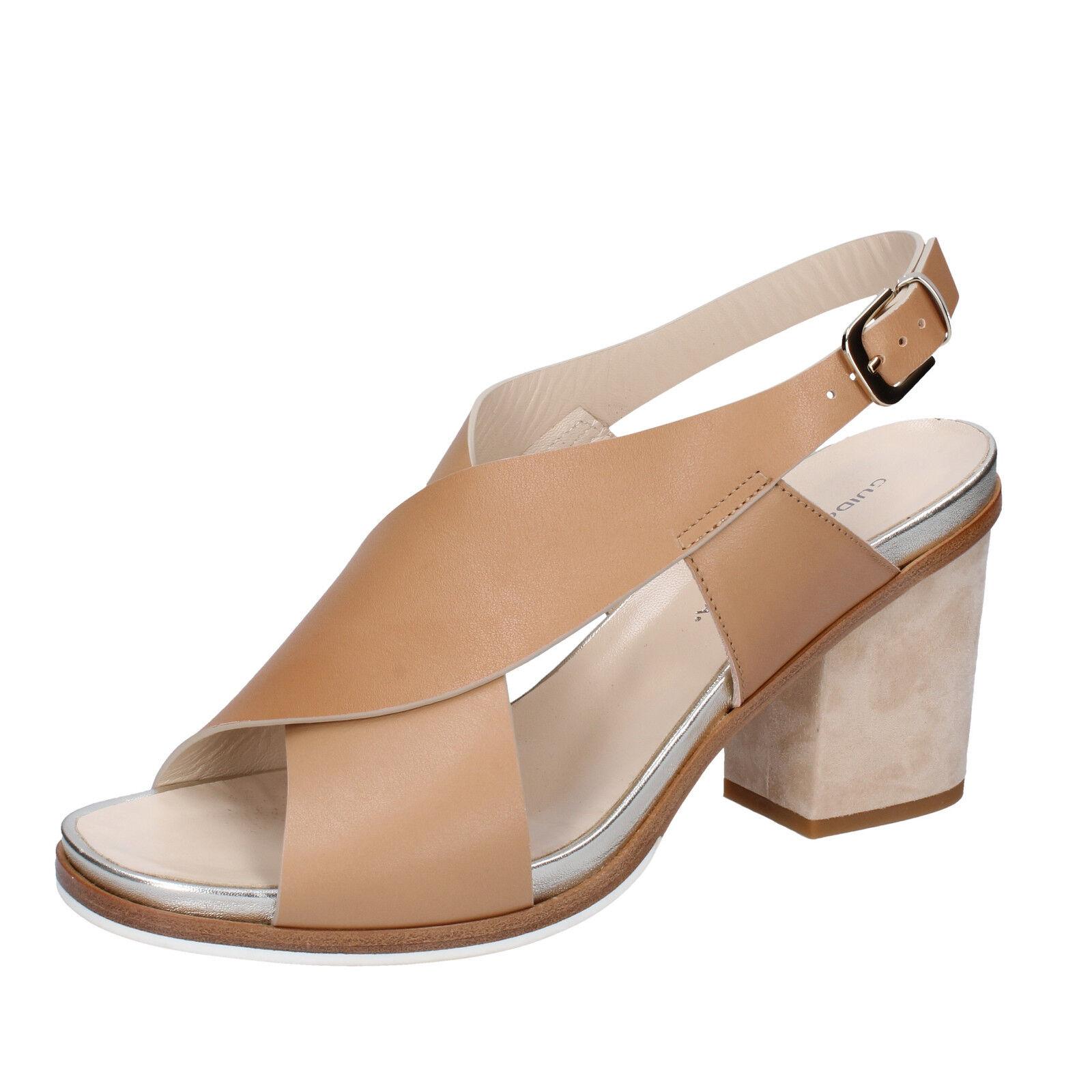 scarpe donna GUIDO marrone SGARIGLIA 41 sandali marrone GUIDO pelle BZ317 081dc5