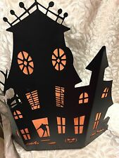 NEW Yankee Candle 2015 Silhouettes Halloween Haunted House +12 Tea Light Candles