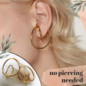 bequeme Hooping Ohr Manschette klassisch keine Piercing Notwendigkeit für Frauen