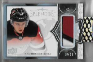 2017-18-SPLENDOR-NICO-HISCHIER-TRUE-ROOKIE-CARD-PATCH-18-36-NEW-JERSEY-DEVILS