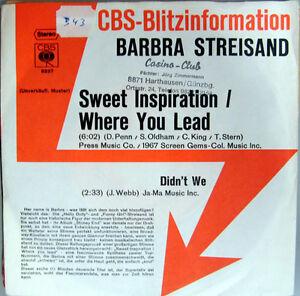 Single-BARBARA-STREISAND-MUSTERPLATTE-1972-RARITAT