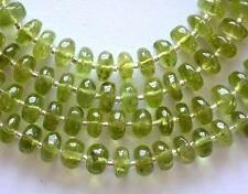 "7"" STRAND PERIDOT BEADS RONDELLE 5.5 - 6 MM NATURAL GEMSTONE 47 CTS #3618"