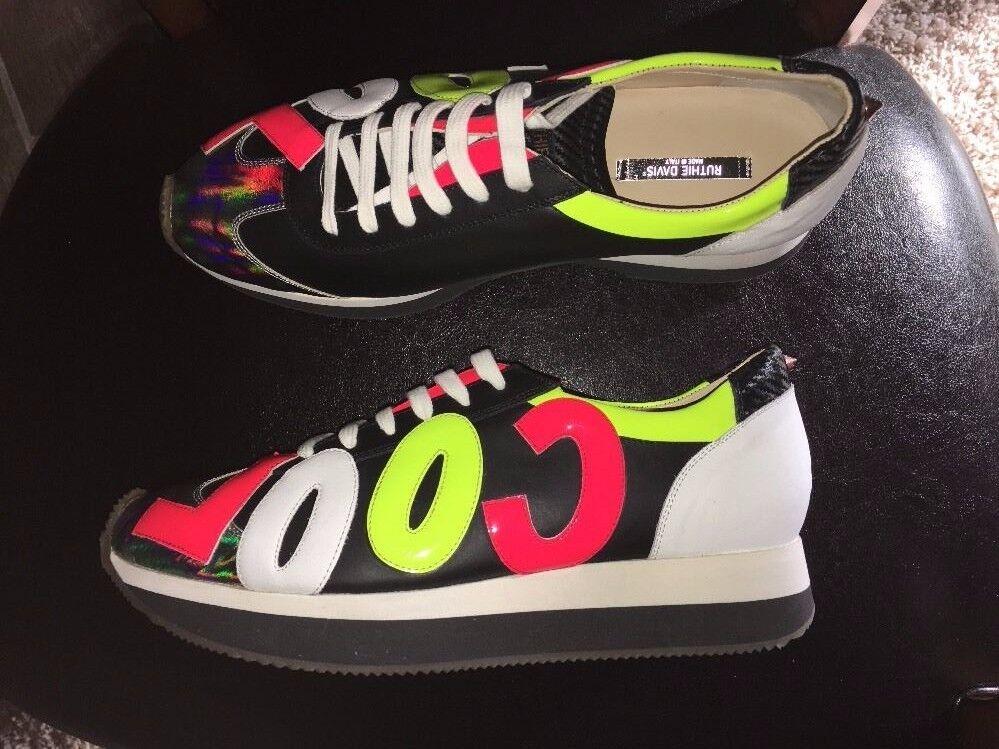 RUTHIE DAVIS Cool Men Round Toe Leather Sneakers RAINBOW MULTI 698 SZ 13 NEW