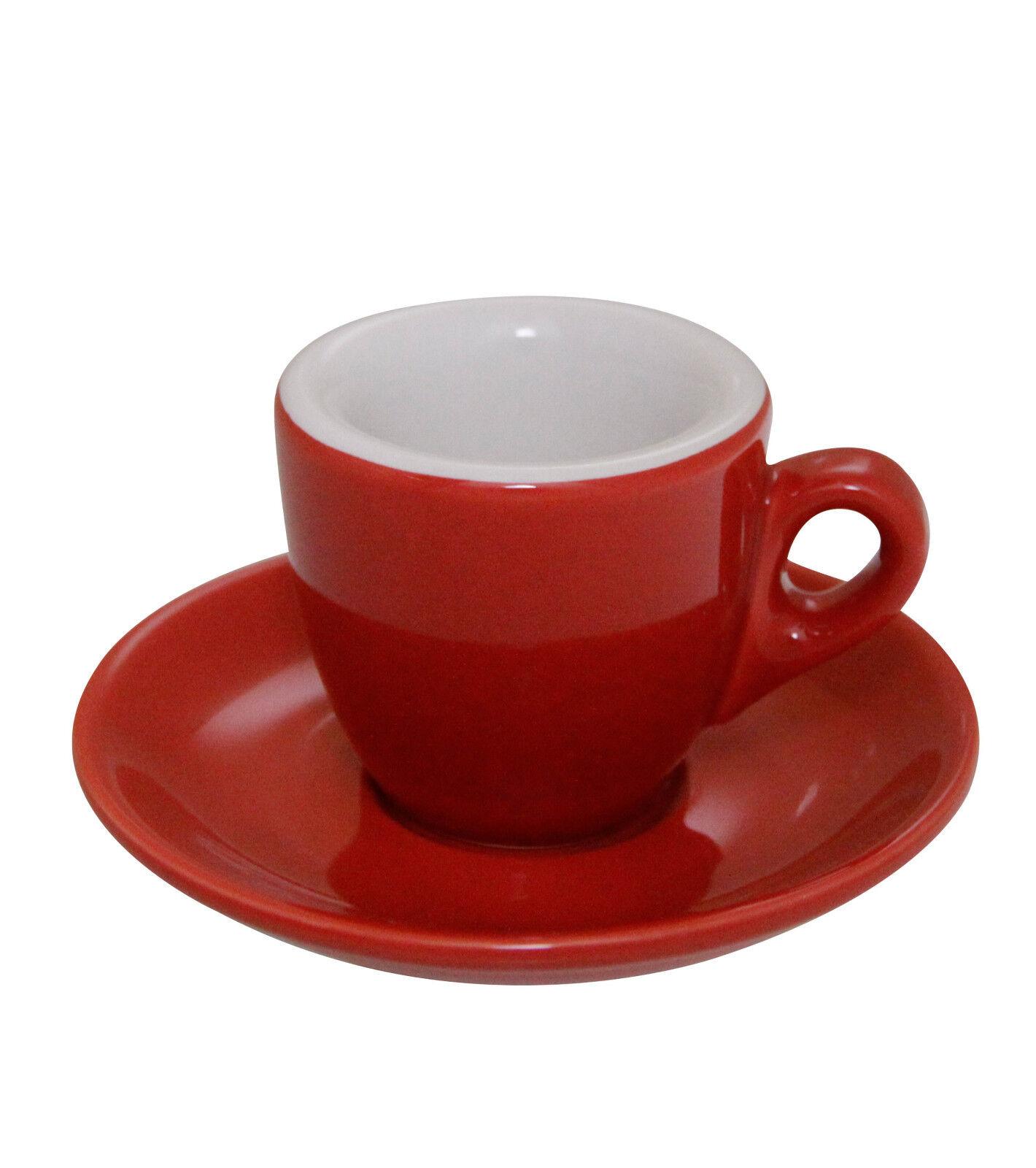 Espresso Tazze Palermo Rosso considerevole Made in  - 6 pezzi-Caffe Milano