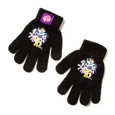 My Little Pony Text Stretch Gloves Black Rainbow Dash, Twilight Sparkle - NWT
