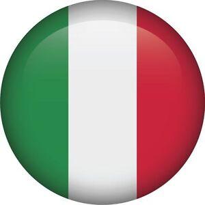Drapeau Rond italien drapeau national rond icône autocollant graphique vinyle