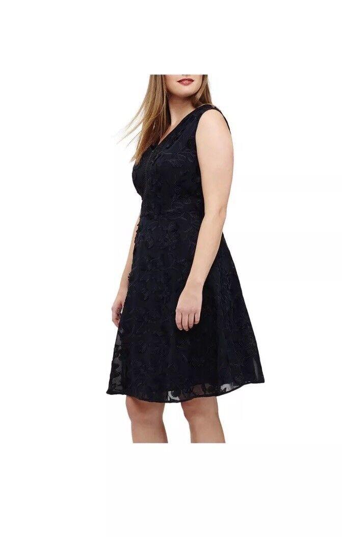 Studio8 Blau Flora Navy Lace Dress Größe 24