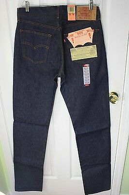 NWT NOS VINTAGE LEVI'S 501XX SHRINK TO FIT JEANS SIZE 33X40 MADE IN USA