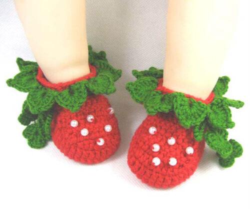 Baby Newborn Infant Girls Crochet Knit Socks Crib Casual Shoes Prewalkers 0-12M