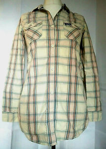 Superdry-Medium-chemise-a-carreaux-rose-bleu-orange-et-blanc-longues-ou-manches-3-4