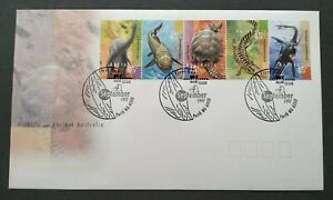 1997-Australia-Ancient-Wildlife-Dinosaur-Reptile-Fish-Turtle-Stamps-FDC