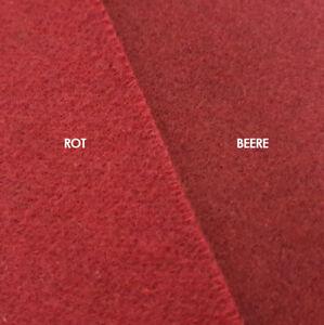 1-Meter-Mantelwolle-Woll-Stoff-Doppel-Gewebe-Wolltuch-ROT-BEERE-Walk-Wolle