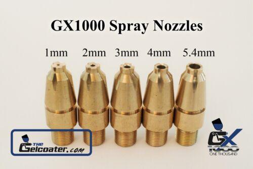 1mm Nozzle for GelCoater GX1000 Gelcoat and Resin Spray Gun Cup Gun Dump Gun