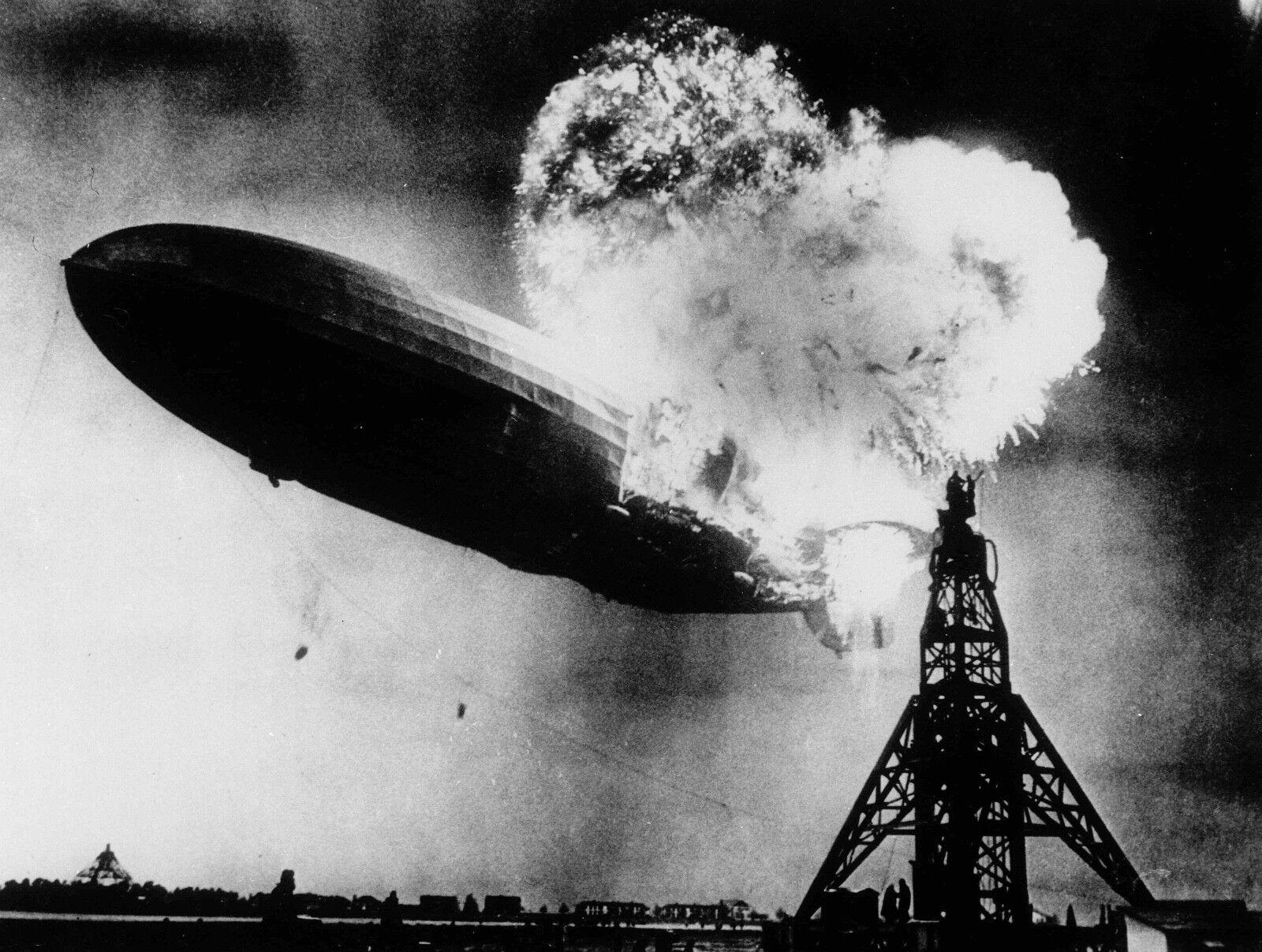 Hindenburg catastrophes Iconique Noir Noir Iconique & Blanc Image Toile Boîte/Photo/Art Imprimé 9e9c0b