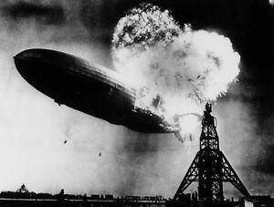 Art print POSTER Canvas Hindenburg Explosion