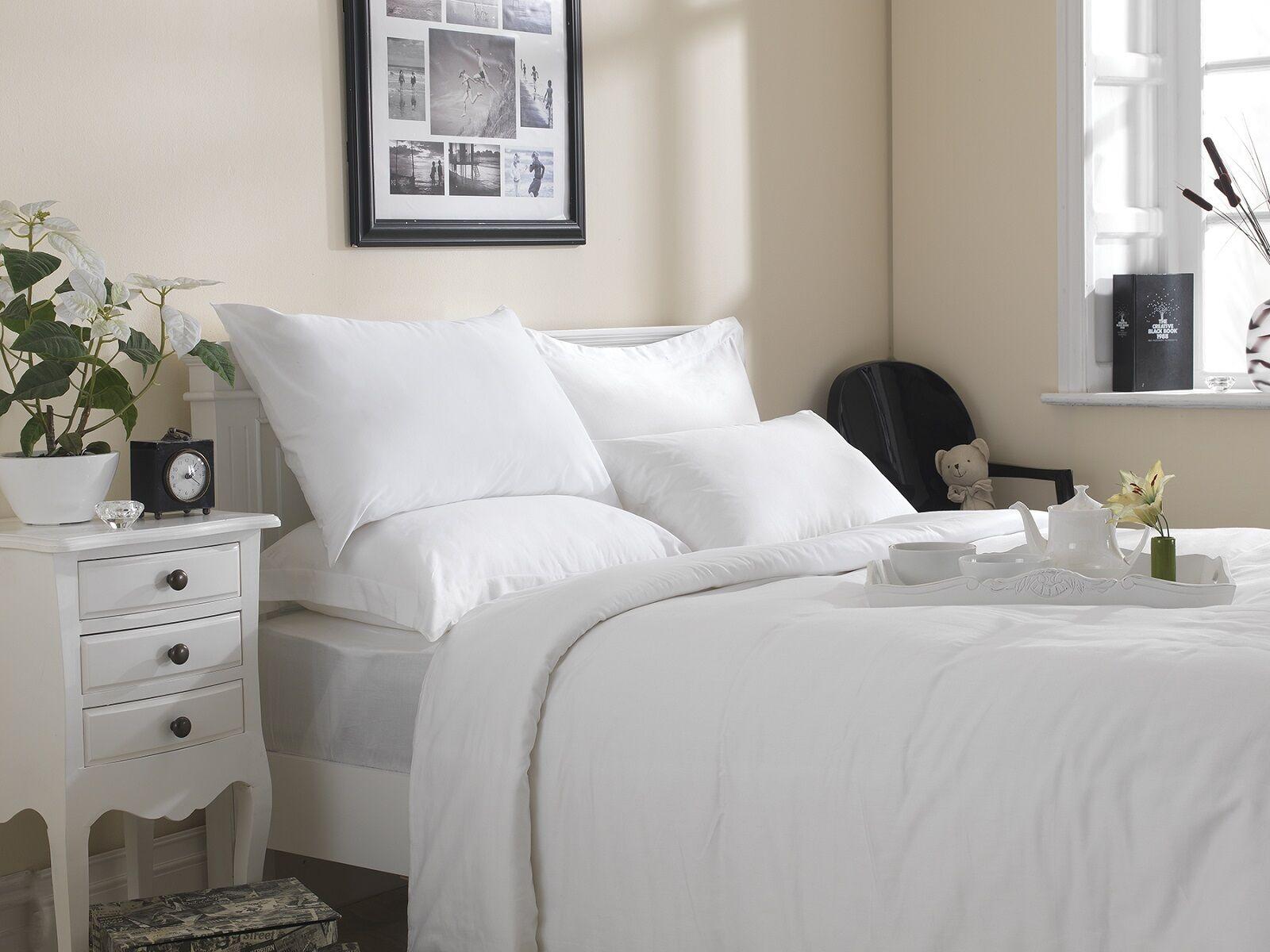 Premium gamma di lino bianco - 100% Twill COTONE 20 o 30 Twill 100% Bianco copripiumini 33ed3f