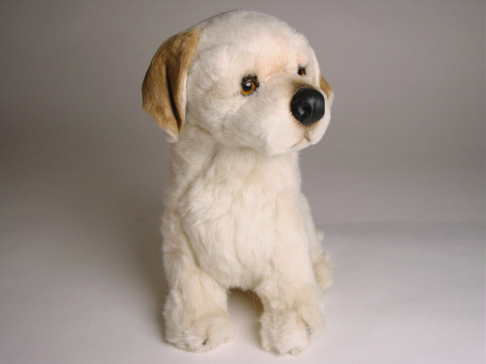 Labrador Retriever Retriever Retriever Puppy by Piutre, Hand Made in , Plush Stuffed Animal NWT 3cd26b