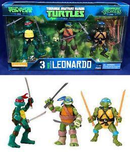 1988 Playmates TMNT Teenage Mutant Ninja Turtles Leonardo Set of 4 No Boxed