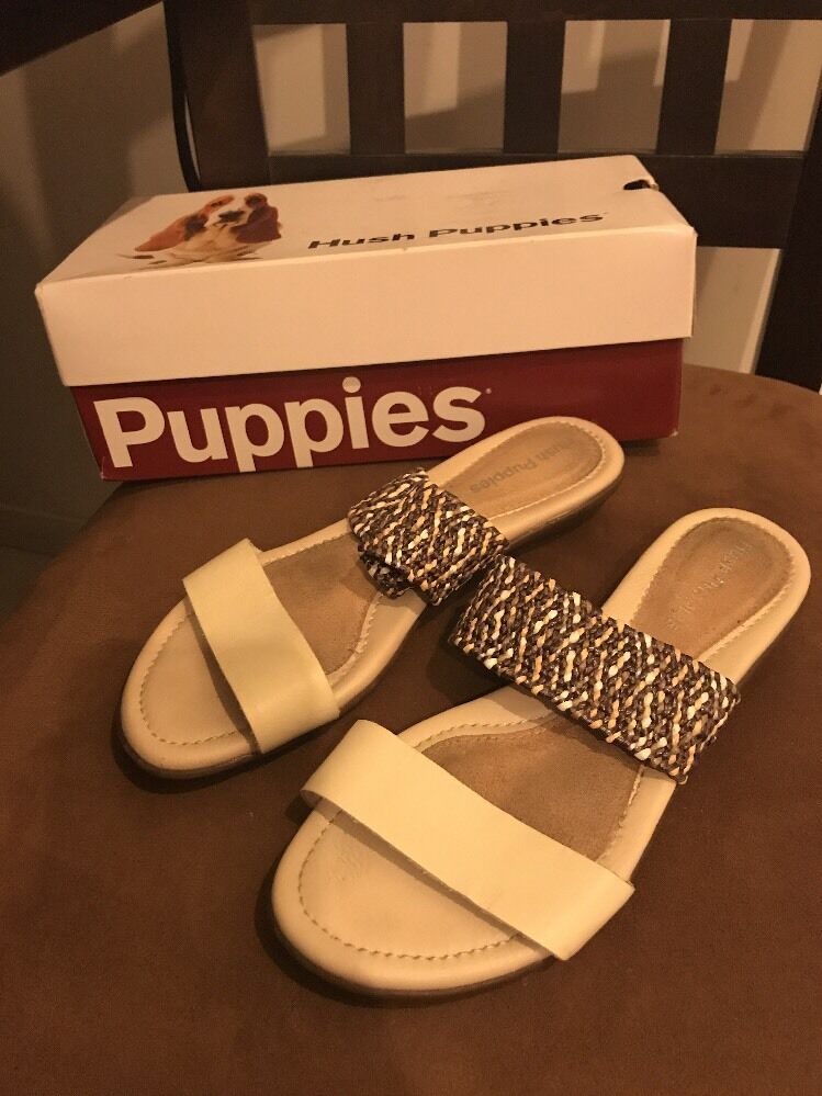 Hush Puppies White Nishi Slide Sandals Off White Puppies 7 9f0fb7