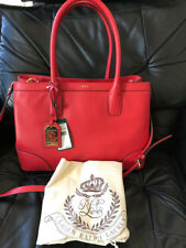 item 3 Ralph Lauren Fairfield City Shopper Poppy Red Pebbled Leather  Handbag Purse NWT -Ralph Lauren Fairfield City Shopper Poppy Red Pebbled  Leather ... bafa75dabd
