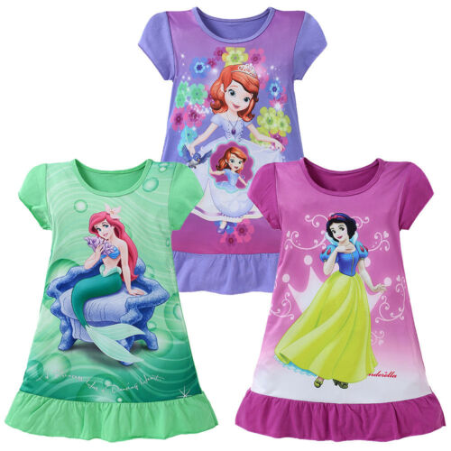 Summer Kids Girls Cartoon Mermaid Princess Casual Dress Tutu Dress Party Costume