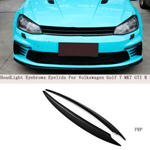 Schwarz Scheinwerferblenden für VW Golf 7 VII GTI R R-Line Böser Blick Turning