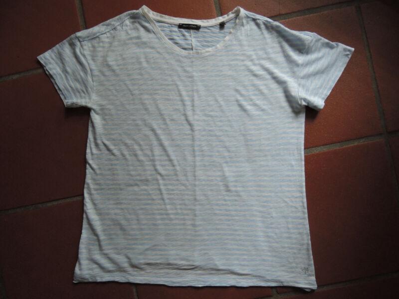 * Marc O`polo * Kurzarmshirt Shirt Oberteil * S * Weiß Blau Gestreift *