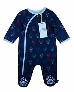 Ted-Baker-Baby-Boys-Romper-Bodysuit-Sleepsuit-Teddy-Bear-Blue-Newborn-Gift