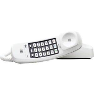 at t landline home phone corded telephones handset white lighted