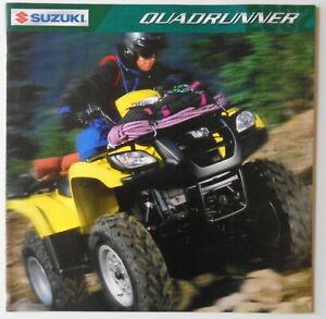 Suzuki 2002 Sales Brochure Quadrunner LT-A500F LT-A400F LT-F250F LT-F300F