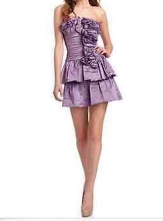 NWT  BCBG MAX AZRIA purple Marcella Strapless Dress