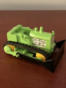 Vintage-Diecast-Made-In-Hong-Kong-Construction-Bulldozer-Green-Mint-Condition