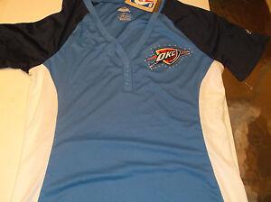 3460c799795 Oklahoma City Thunder Womens NBA apparel Fashion top by Majestic L ...